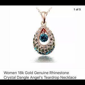 🎈NWOT 18K Gold Teardrop Necklace